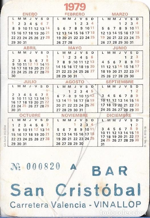 Calendarios: CALENDARIO 1979 EROTICO BAR SAN CRISTOBAL - VINALLOP (TARRAGONA) GA-SERIE BO-5234 - Foto 2 - 49534229