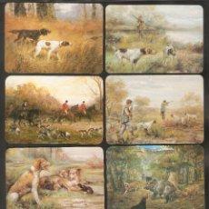 Calendari: 16 CALENDARIOS DE BOLSILLO DE SERIE AÑO 1981 PERROS Y CAZA - PUBLICIDAD - VER FOTO REVERSOS. Lote 233666035