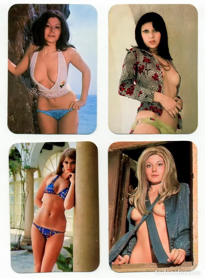 4 CALENDARIOS DE BOLSILLO EROTICOS DIFERENTES AÑO 1977 MUJERES SEXYS (Coleccionismo para Adultos - Calendarios)