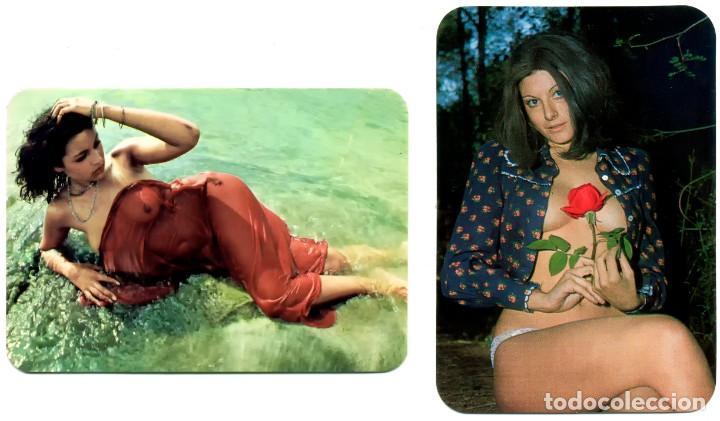 2 CALENDARIOS DE BOLSILLO EROTICOS DIFERENTES AÑO 1976 / 77 MUJERES SEXYS (Coleccionismo para Adultos - Calendarios)