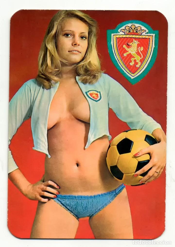 CALENDARIO DE BOLSILLO EROTICO MUJERES SEXYS REAL ZARAGOZA FUTBOL 1977 (Coleccionismo para Adultos - Calendarios)