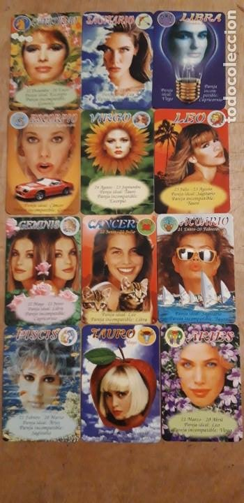 12 CALENDARIOS SERIADOS DE ** HORÓSCOPO CHICAS ** CASA EGC. AÑO 1997 (Coleccionismo para Adultos - Calendarios)
