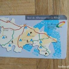 Calendarios: CALENDARIO PUBLICITARIO. RED DE ALBERGUES DE LA RIOJA. AÑO 1996.. Lote 245384950