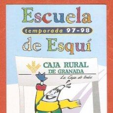Calendarios: CALENDARIO DE BOLSILLO PUBLICITARIO AÑO 1997 - 98 CAJAS DE AHORROS/ BANCOS - CAJA RURAL DE GRANADA. Lote 245647440