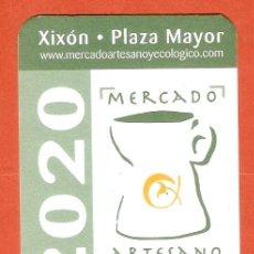 Calendarios: CALENDARIO DE BOLSILLO AÑO 2020 XIXÓN - PLAZA MAYOR - MERCADO ARTESANO - CAJA RURAL DE ASTURIAS. Lote 245652325