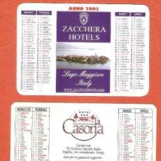Calendarios: 3 CALENDARIOS DE BOLSILLO DE ITALIA AÑOS 2003 - 2007 TURISMO - HOTELES. Lote 245656760