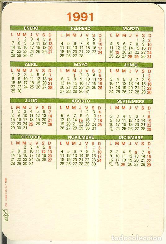 Calendarios: CALENDARIO DE SERIE - 1991 - GRAY - Foto 2 - 245793715