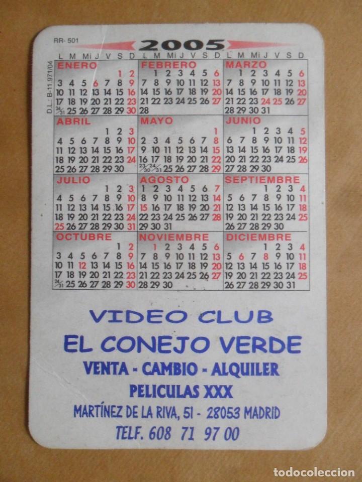 Calendarios: AÑO 2005 - PUBLICITARIO - VIDEOCLUB EL CONEJO VERDE - CHICA DESNUDA - MADRID - Foto 2 - 246075435