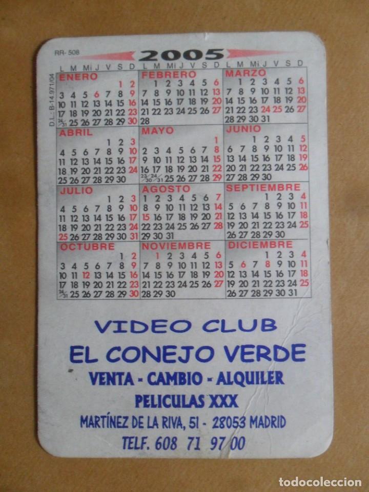 Calendarios: AÑO 2005 - PUBLICITARIO - VIDEOCLUB EL CONEJO VERDE - CHICO DESNUDO - MADRID - Foto 2 - 246075885