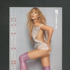 Calendarios: TARJETA POSTAL CALENDARIO DICIEMBRE 2004 EDITA DT. Lote 254363765