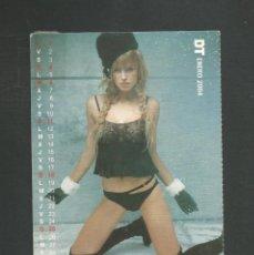 Calendarios: TARJETA POSTAL CALENDARIO ENERO 2004 EDITA DT. Lote 254363885