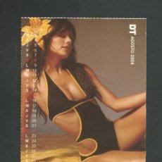 Calendarios: TARJETA POSTAL CALENDARIO AGOSTO 2004 EDITA DT. Lote 254363975