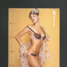 Calendarios: TARJETA POSTAL CALENDARIO MARZO 2004 EDITA DT. Lote 254364535