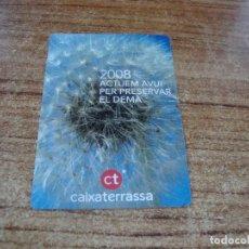 Calendarios: CALENDARIO DE BOLSILLO TEMA BANCOS CAIXAS CAIXA TARRASSA 2008 CATALAN. Lote 254775915