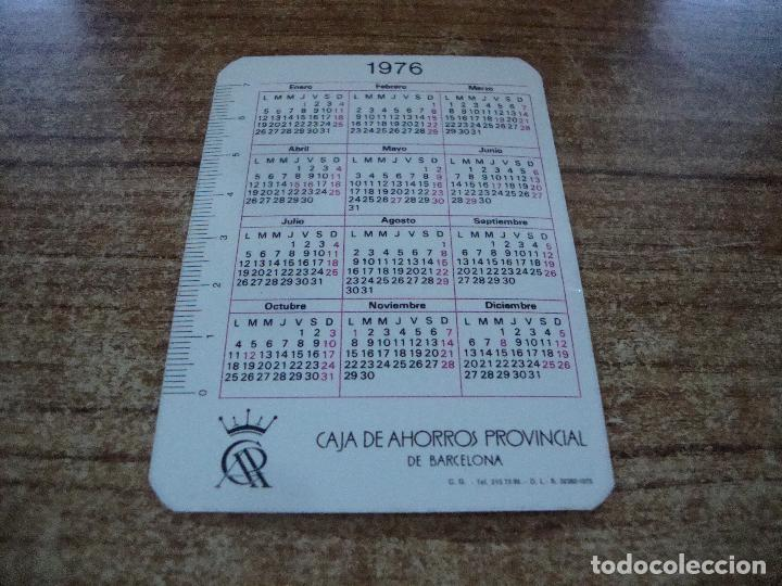 Calendarios: CALENDARIO DE BOLSILLO TEMA BANCOS CAIXAS CAJA AHORROS PROVINCIAL DE BARCELONA 1976 - Foto 2 - 254776575