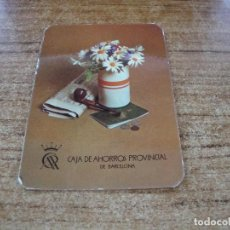 Calendarios: CALENDARIO DE BOLSILLO TEMA BANCOS CAIXAS CAJA AHORROS PROVINCIAL DE BARCELONA 1976. Lote 254776575