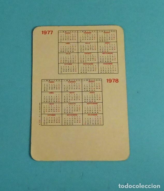 Calendarios: CALENDARIO CON CHICA SENSUAL. REVERSO AÑOS 1977 Y 1978 - Foto 2 - 254798725
