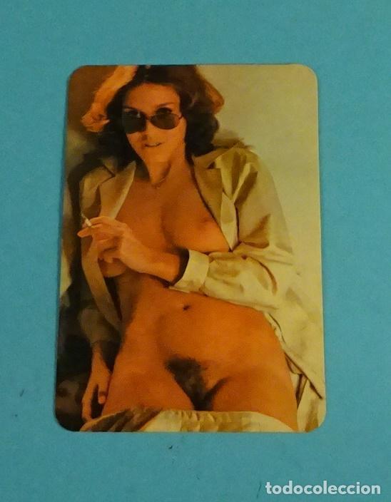 CALENDARIO CON CHICA SENSUAL. REVERSO AÑOS 1977 Y 1978 (Coleccionismo para Adultos - Calendarios)