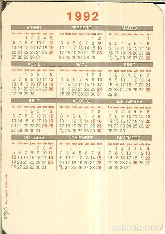 Calendarios: CALENDARIO DE SERIE - 1992 - GRAY - Foto 2 - 254829370
