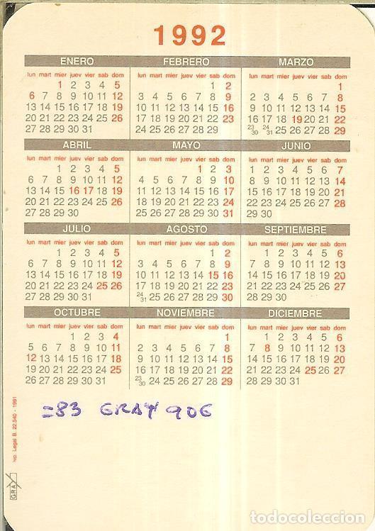 Calendarios: CALENDARIO DE SERIE - 1992 - GRAY - Foto 2 - 254829465