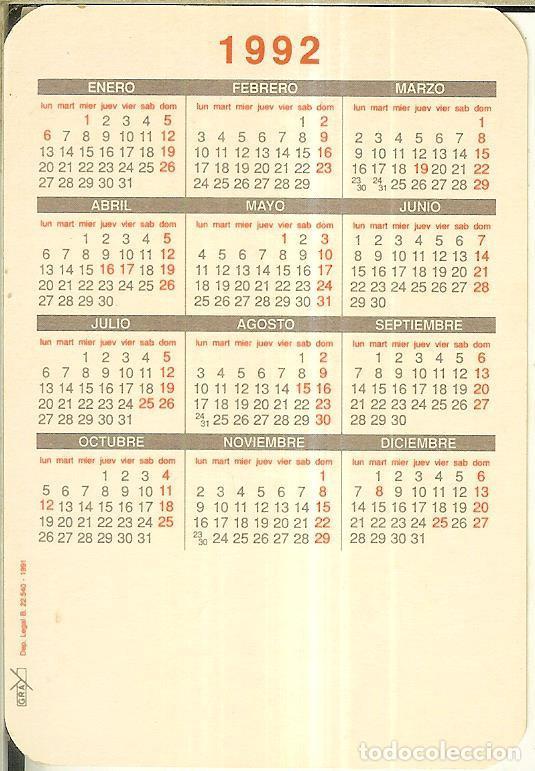 Calendarios: CALENDARIO DE SERIE - 1992 - GRAY - Foto 2 - 254829595