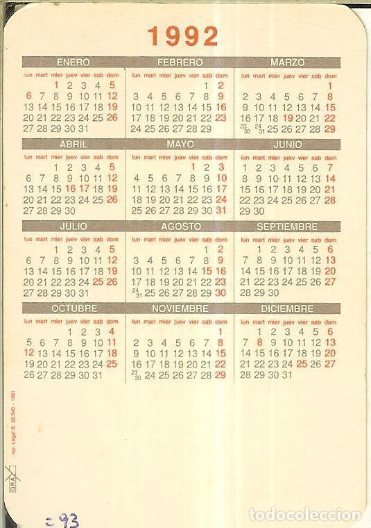 Calendarios: CALENDARIO DE SERIE - 1992 - GRAY - Foto 2 - 254829625