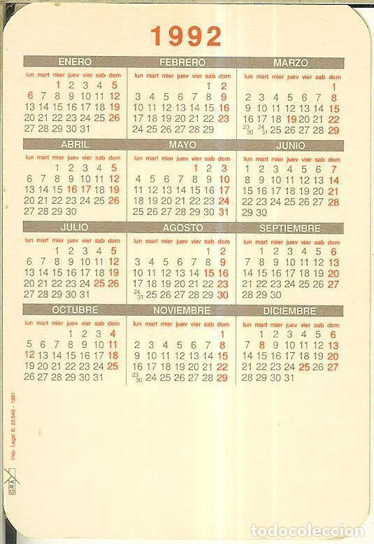 Calendarios: CALENDARIO DE SERIE - 1992 - GRAY - Foto 2 - 254829650
