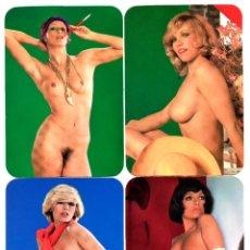 Calendarios: 6 CALENDARIOS DE BOLSILLO EROTICOS DIFERENTES AÑO 1978 MUJERES SEXYS DESNUDO FEMENINO. Lote 262478170