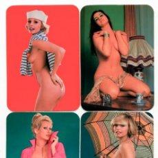 Calendari: 6 CALENDARIOS DE BOLSILLO EROTICOS DIFERENTES AÑO 1978 MUJERES SEXYS DESNUDO FEMENINO. Lote 262476540