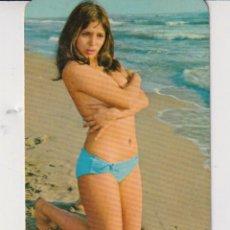 Calendarios: CALENDARIO DE BELLA SEÑORITA DEL AÑO 1975 EN PUBLICIDAD DE BAR CHIQUITO BADALONA EN ESP. Lote 269395673