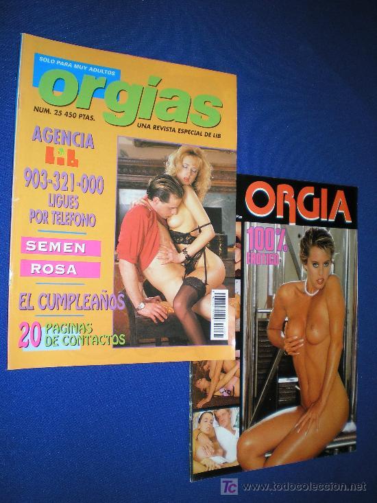 REVISTAS DE LIB. ORGIAS NºS 3 Y 25 - REVISTA PARA ADULTOS (Coleccionismo - Adultos)