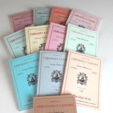 Libros: LIBRERÍAS CERVANTES Y CANUDA. 12 EJEMPLARES. VARIOS AUTORES.1989/1999.. Lote 98458371
