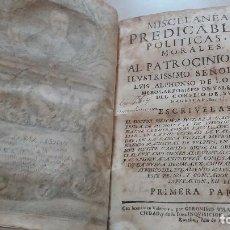 Libros: LIBRO PERGAMINO 1671. MISCELANEAS PREDICABLES POLITICAS Y MORALES. . Lote 98767591