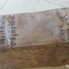 Libros: LIBRO PERGAMINO S.XVII. LA FUENTE MEDITACIO SPIRITUA. Lote 98767931
