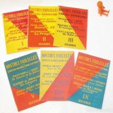 Libros: NOSTRES FAULELLES I II III V VIII IX SICANIA CONTES I NARRACIONS VALENCIA. Lote 99553247