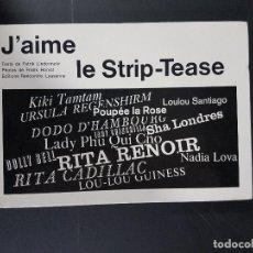 Livros: J´AIME LE STRIP-TEASE,EN FRANCÉS. Lote 103629723