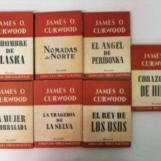 Libros: 7 NOVELAS JAMES O. CURWOOD.. Lote 131106084