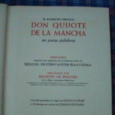 Libros: DON QUIJOTE DE LA MANCHA EN POCAS PALABRAS. Lote 145118154