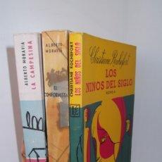 Libros: ## LIBROS DE OCASION # ALBERTO MORAVIA - CHRISTIANE ROCHEFORT # 3 LIBROS - 1956- 1959- 1962 #- . Lote 179400041