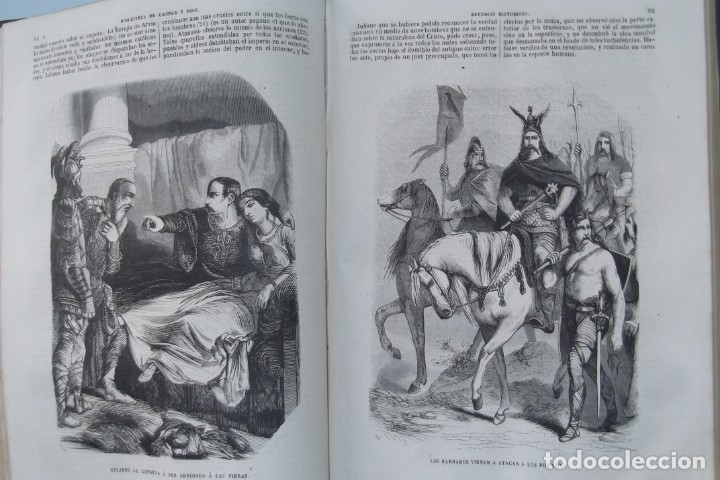 Libros: ¡¡ VIAJES A ITALIA Y AMERICA , + 2 OBRAS F. A. CHATEAUBRIAND . AÑO 1871 !! - Foto 4 - 180238446
