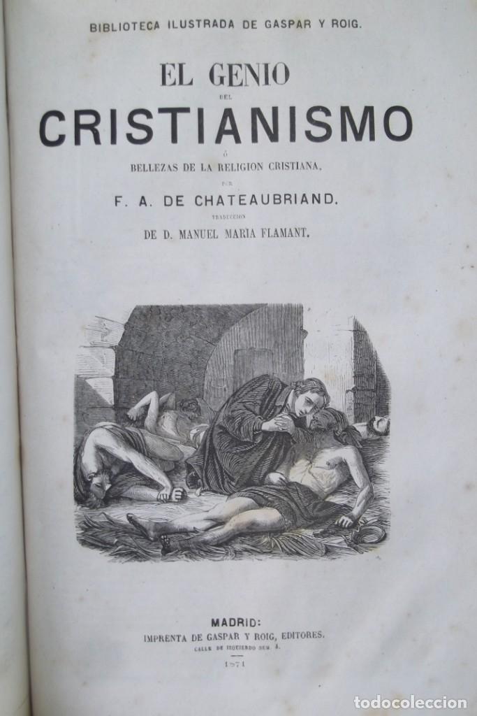Libros: ¡¡ VIAJES A ITALIA Y AMERICA , + 2 OBRAS F. A. CHATEAUBRIAND . AÑO 1871 !! - Foto 6 - 180238446