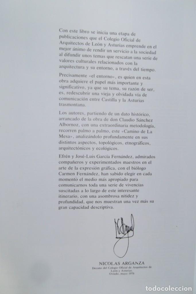 Libros: # EL CAMINO REAL DEL PUERTO LA MESA - VIA ROMANA #COLEGIO DE ARQUITECTOS DE LEON Y ASTURIAS# FIRMADO - Foto 8 - 181113742