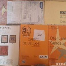 Libros: LOTE LIBRO DE SELLO, MAYO 2016 Y FEBRERO 2014, DOS SOBRE VACIO Y DOS HOJAS DE PEDIDO SIN USAR. Lote 181900625