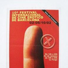 Otros: CATÁLOGO DEL 10º FESTIVAL DE CINE ERÓTICO DE BARCELONA 2002 ( FICEB ). Lote 38220444