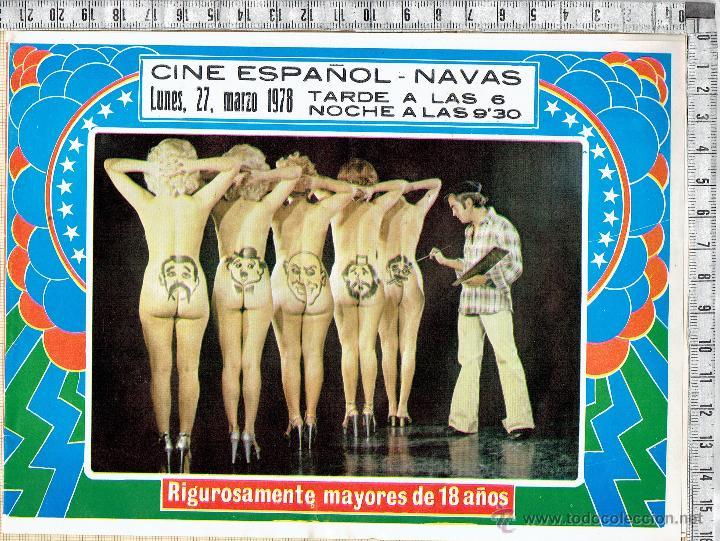 97b932e8f PROGRAMA CARTEL ESPECTACULO EROTICO-SIN BRAGAS Y A LO LOCO-CINE ESPAÑOL  NAVÁS 1978.