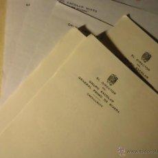 Otros: LOTE 6 CUARTILLAS DIRECTOR VICENTE REGAÑO GRUPO ESCOLAR CREVILLENTE ALICANTE. Lote 53644121