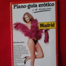Otros: PLANO GUÍA ERÓTICO Y DE DIVERSIONES DE MADRID, EDDIS 1979, 2º EDICION. Lote 57128607