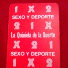 Otros: 51 NAIPES SEXYS LA QUINIELA DE LA SUERTE. Lote 71956509