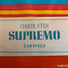 Otros: ANTIGUO RECORTABLE CHOCOLATE SUPREMO, CARAVACA ( MURCIA ). Lote 189483088