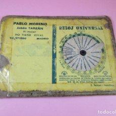 Otros: RELOJ-HORARIO PERPETUO-PUBLICIDAD:PABLO MORENO-JABÓN TARZÁN-MUY ANTIGUO-VER FOTOS. Lote 89063348